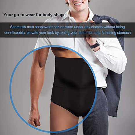 074a5879cfdf7 Amazon.com  TAILONG Men Tummy Shaper Briefs High Waist Body Slimmer  Underwear Firm Control Belly Girdle Abdomen Compression Panties  Clothing