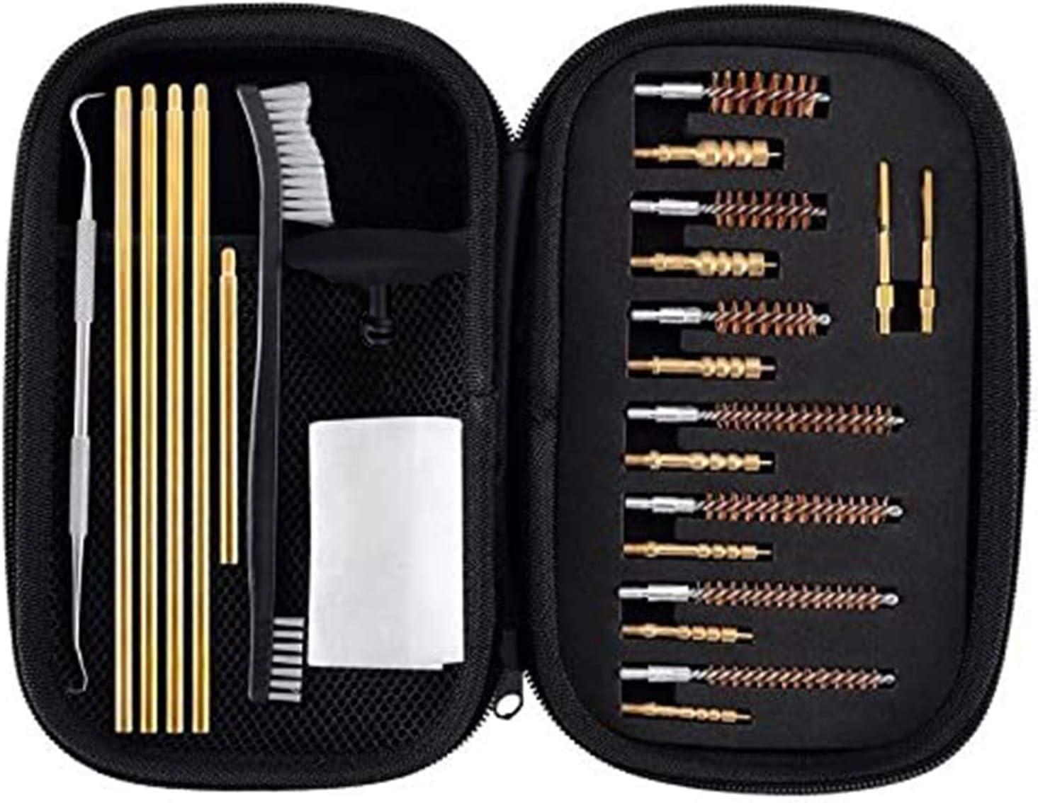 Boosteady Kit de Limpieza Brochas Que Tienen Jabs de latón Multi-Calibre para Rifle & Handgun & Pistola (Calibre de .22.30.243.280.40.45.357 / 9mm /.380)