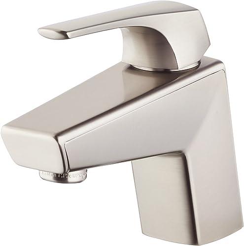 Pfister LG42LPMK LG42-LPMK Arkitek Single Control 4 Centerset Bathroom Faucet in Brushed Nickel, 1.2gpm