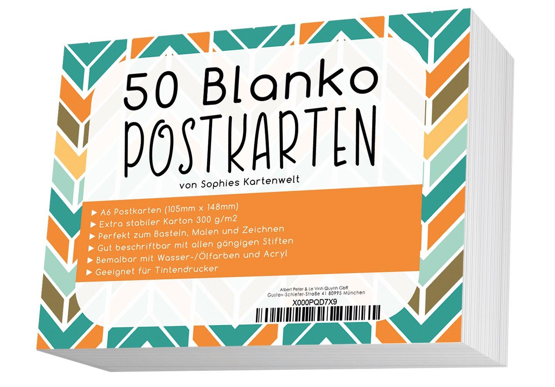 50fogli bianchi Cartoline/Cartoline Blanko in Bianco 300G/Cartoline da personalizzare e stampare/von sophies Mappa Mondo Sophies Kartenwelt