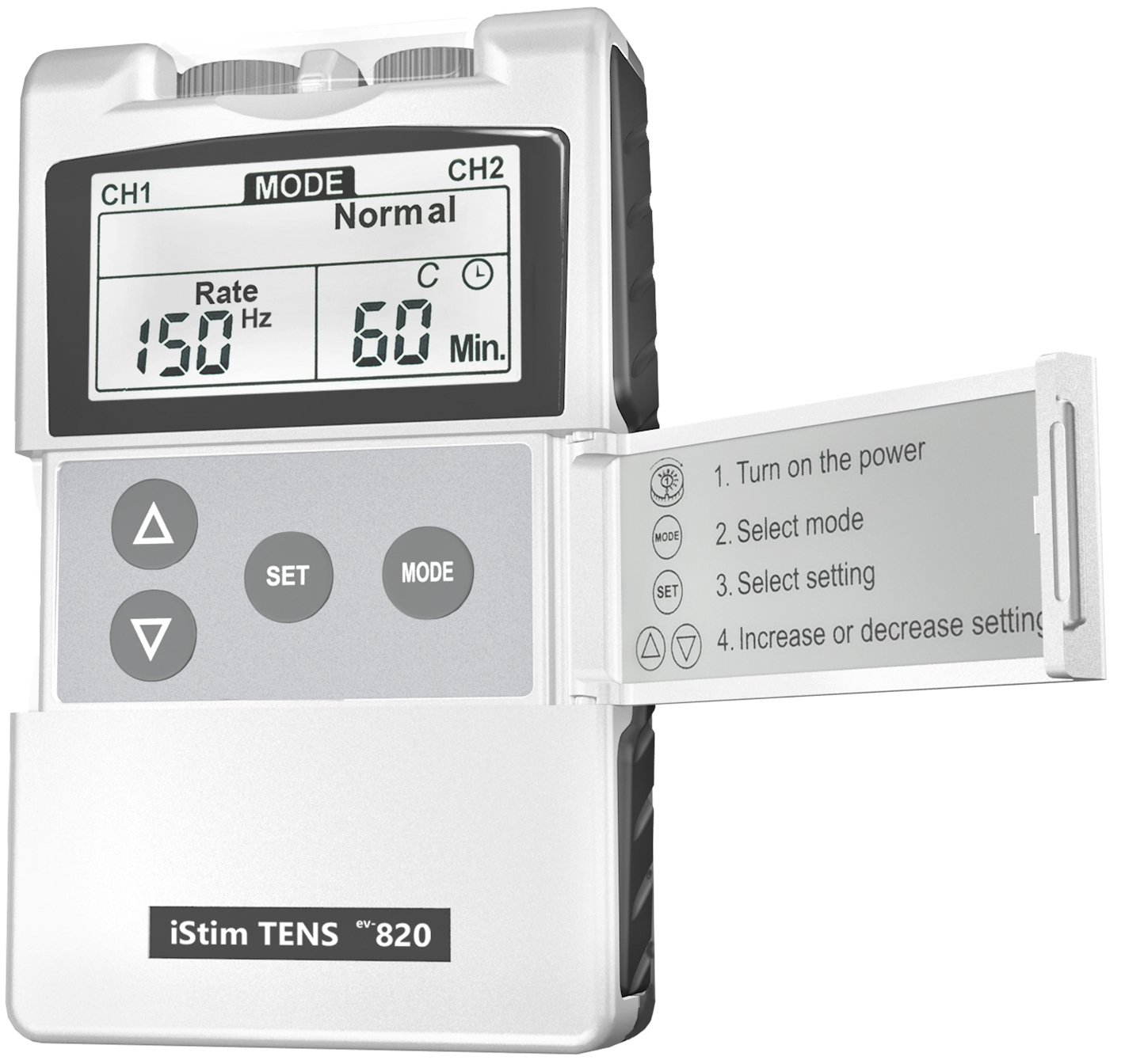 FDA Cleared TENS Unit iStim EV-820 TENS Machine for Pain Management, Back Pain and Rehabilitation by iSTIM (Image #2)