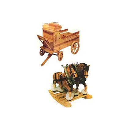 Costruire Una Sedia A Dondolo Fai Da Te.Clyde N Dale Cavalli A Dondolo Con Carro Giocattolo Scatola Del