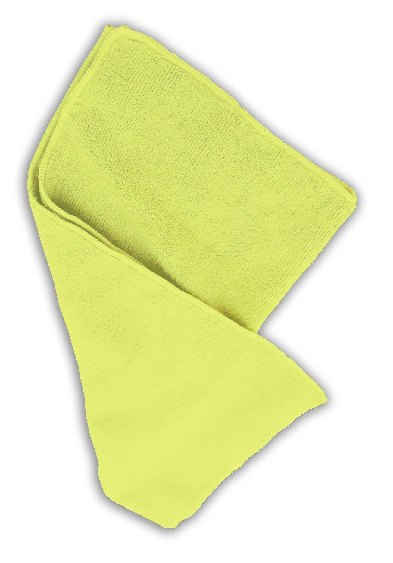 Impact LFK700 Microfiber All-Purpose Cloth, 16'' Length x 16'' Width, Yellow (15 Bags of 12)