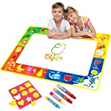 Doodle Tappeto Magico, Bambini Giocattoli Grandi Magic Toddlers Pittura Bordo Tappetini Scribble Boards con 4 Penna Magica e Disegnare Modelli Regalo 74x 49cm (Fruit)