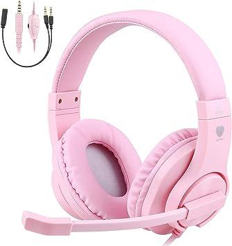 TurnRaise Auriculares para Niños, 40mm Flexible Auriculares con Cable con Micrófono y Control de Volumen: Amazon.es: Electrónica