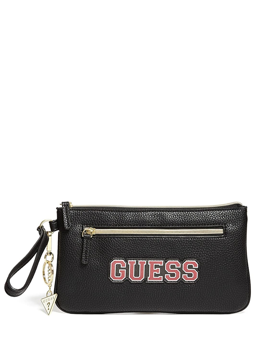 26e1a9315ba2 Amazon.com  GUESS Factory Women s Riley Logo Embossed Pouch  Clothing