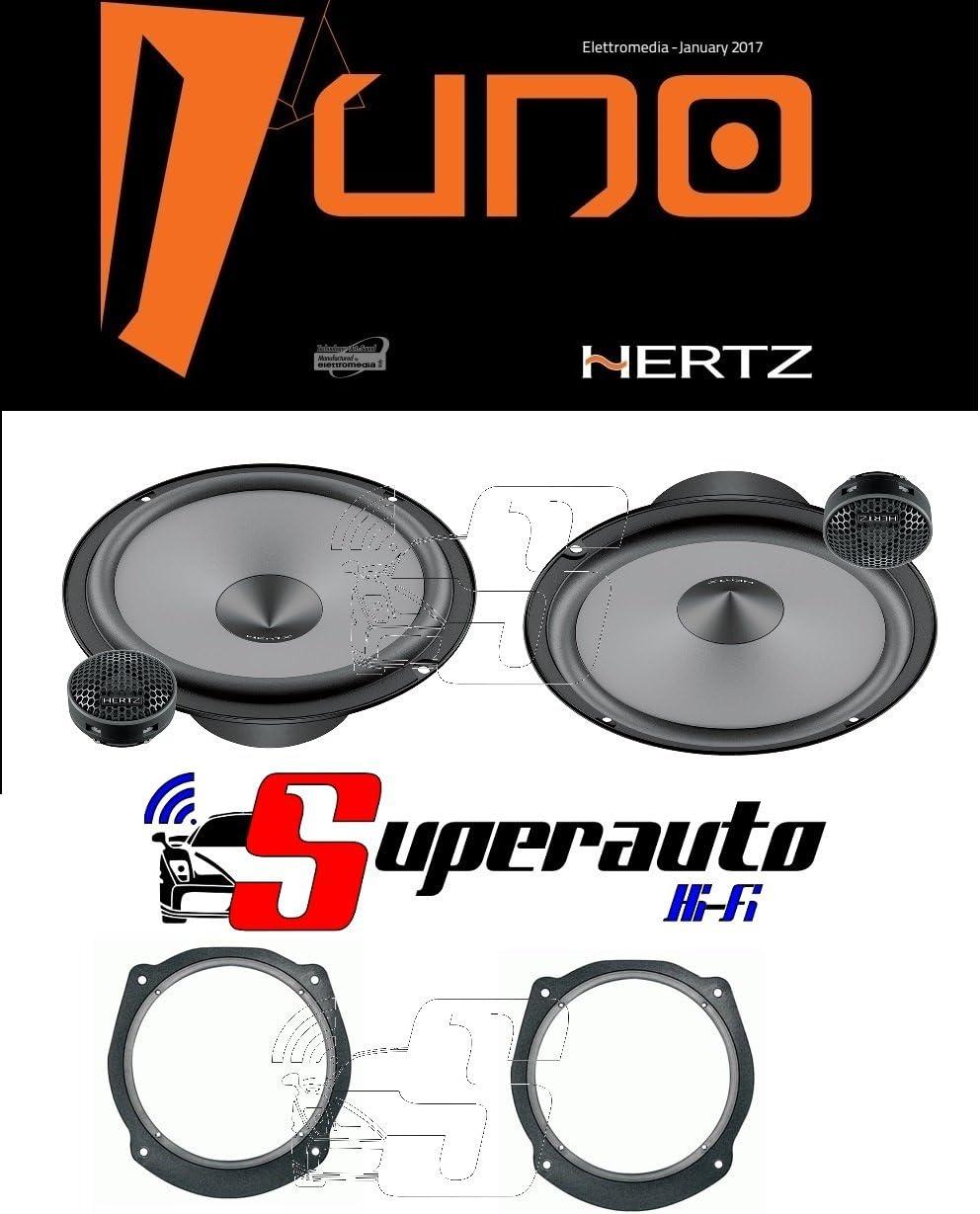 Hertz DCX 165.3 Kit Casse Altoparlanti Anteriori=Posteriori Lancia Delta 08/>14