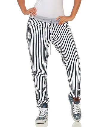 306e51342b ZARMEXX Pantalones Deportivos para Mujer Pantalones Deportivos a Rayas  Boyfriend Pantalones Deportivos con Rayas Enteras  Amazon.es  Ropa y  accesorios