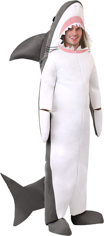 Adult Shark Costume Great White Shark Costume Jumpsuit