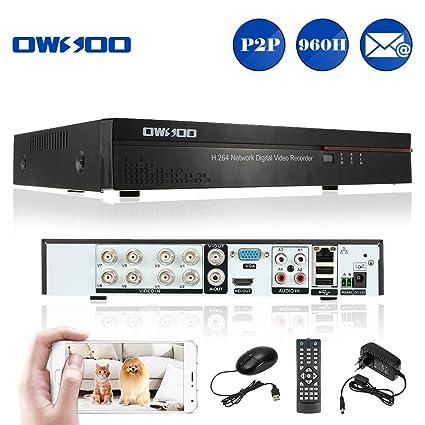 OWSOO 8CH DVR Full 960H/D1 Grabador de Video H.264 P2P Network CCTV Control Móvil Android/iOS Detección de Movimiento Alarma Email para Cámara ...