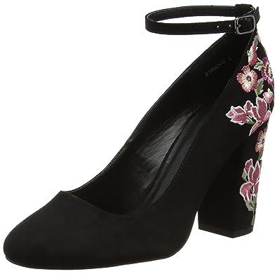 Welfare - Zapatos de Tacón Mujer, Color Negro, Talla 36 EU New Look