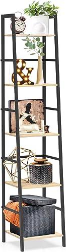 SpringSun 5-Tier Ladder Shelf Bookcase - a good cheap modern bookcase