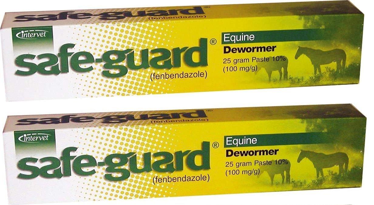 Merck Intervet Safeguard Dewormer Paste for Horses, 25gm (2-Pack)