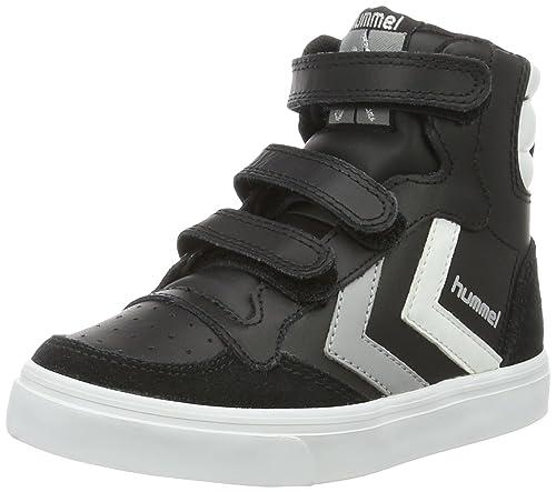 Hummel Stadil Jr Leather Low, Zapatillas Unisex Niños, Negro (Black), 28 EU