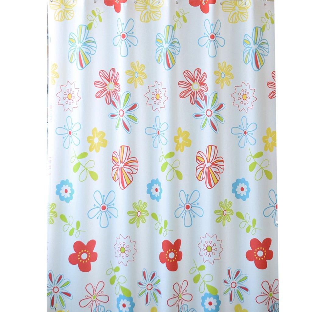 Curtain Shower Curtain, Waterproof Thickening Shower Curtain, Partition Wall Insulation Curtain, Send Hanging Ring Shower Equipment (Size : 150180cm)