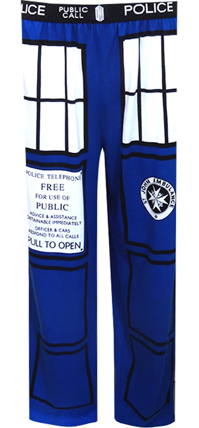 Doctor Who TARDIS Police Box Men's Lounge Pants, X-Large Underboss