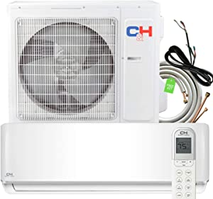 24000 BTU Heating and Cooling Ductless Mini Split Air Conditioner 208/230 V Heat Pump Energy Star with Installation Kit