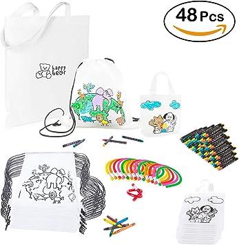 Mega Pack de 16 Mochilas y 16 Bolsas para Pintar con Ceras ...