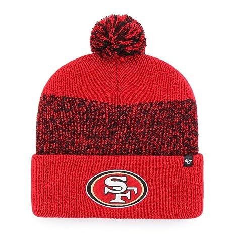 150b1872f63 Amazon.com    47 San Francisco 49ers Beanie Static Cuff Knit Hat ...
