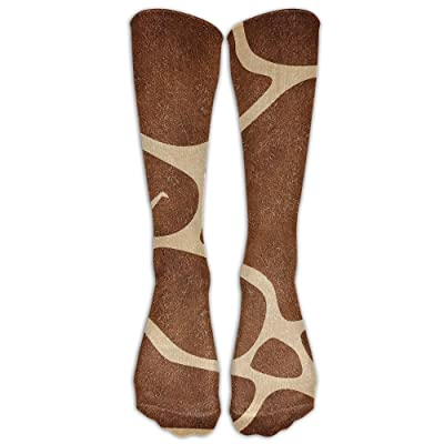 High Boots Crew Brown Giraffe Compression Socks Comfortable Long Dress For Men Women