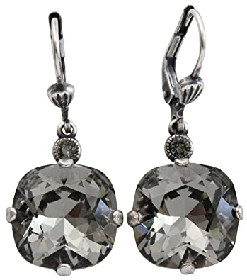 7f0ba1c9e Amazon.com: Catherine Popesco Silvertone Crystal Round Earrings ...