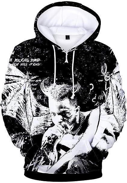 fdcb31d5c9cc Bettydom Rapper RIP Xxxtentacion Hoodies Hip Hop Sweatshirt 3D Printed  Novelty Hoodie(XXS