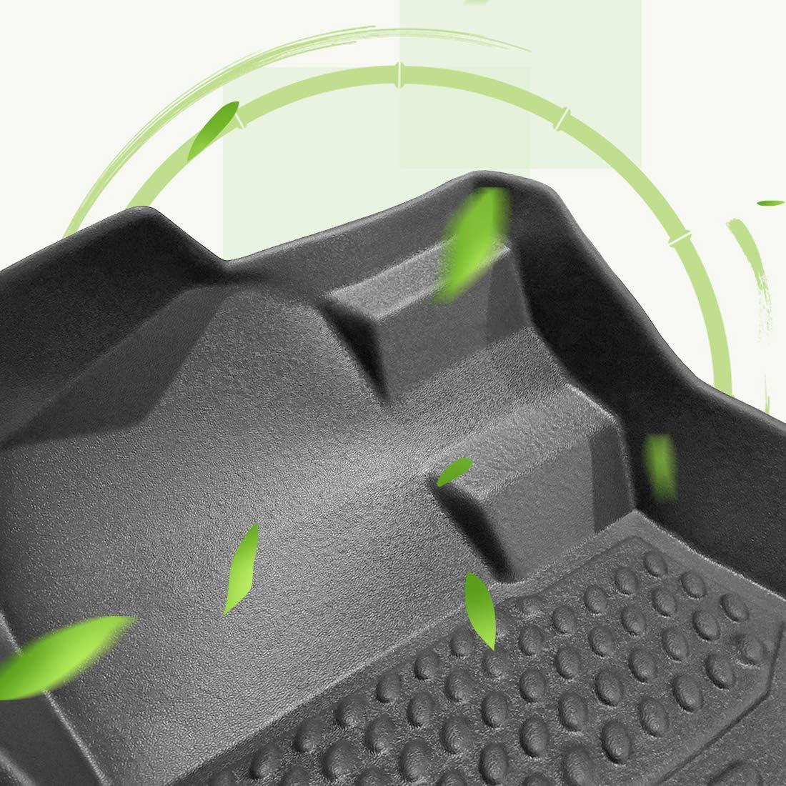 OREALTECH 3D Premium Tappeti Tappeto Tappetini Tappetino Moquette Auto in TPE Nero 3 Pezzi per Toyota RAV4 2013-2018