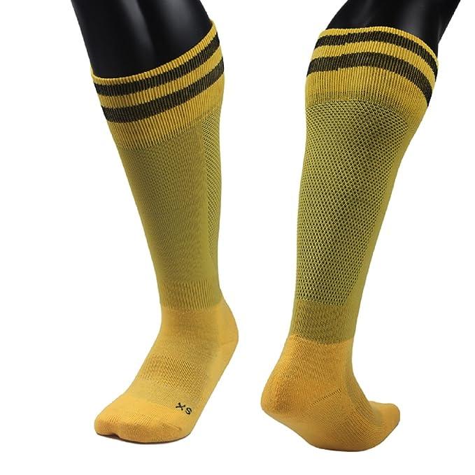 Lian estilo Unisex 1 Par longitud de la rodilla calcetines deportivos rayas tamaño XS/S/M: Amazon.es: Ropa y accesorios
