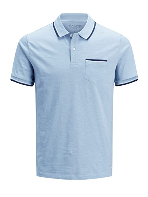 Polo Jack & Jones 12134915 Winston Slim fit con taschino: Amazon ...