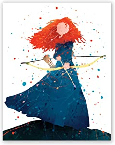 Merida Poster – Girls Bedroom Art Print – Brave Movie Wall Home Decor – Princess Picture (8x10)