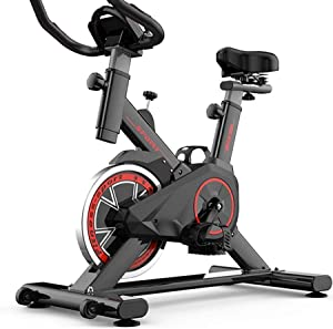 Indoor Spinning Bike Home Sports Aerobic Training Exercise Bicycle Gym Fitness Equipment with Adjustable Seat & Handlebar, Large Mute Flywheel (Size : with LCD)