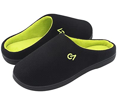 14d44a97b5 VeraCosy Men's Two-Tone Memory Foam Slippers: Amazon.co.uk: Shoes & Bags