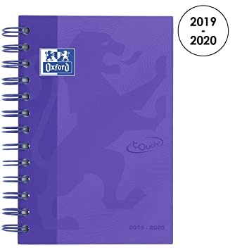 Oxford 100735774 School Soft Touch 2018 – 2019 1 – Agenda escolar día página, 12 x 18 cm, color morado
