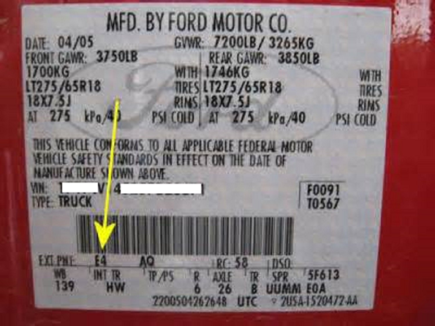 Genuine Ford Motorcraft Touch Up Paint Dark Side Bt Titan Fuse Box Location Automotive