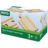 Brio Mini Straight Track Pack Juego Primera Edad, Color Madera (33393)