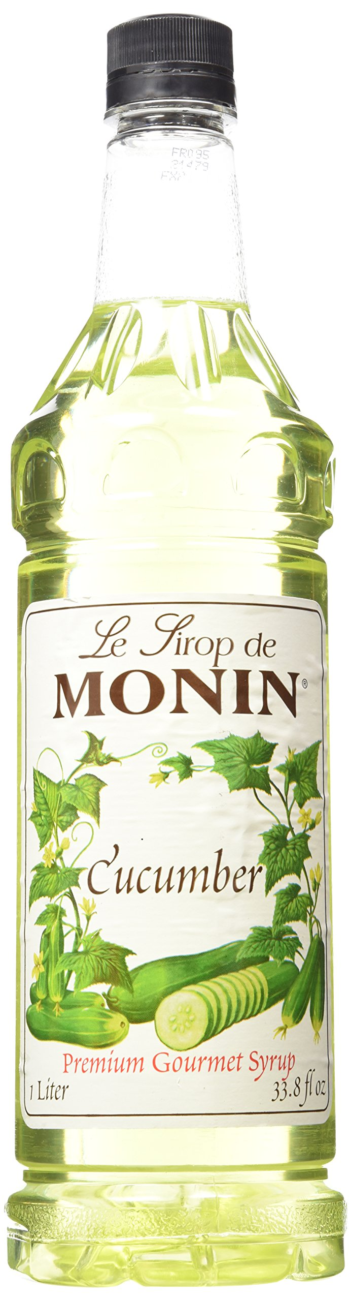 Monin Flavored Syrup,Cucumber, 33.8-Ounce Plastic Bottle (1 Liter)