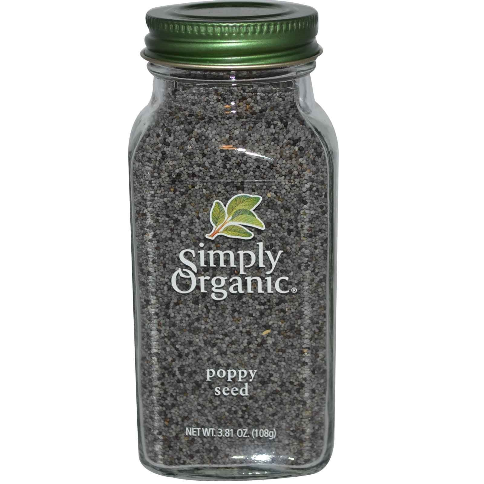 Simply Organic, Poppy Seed, 3.81 oz(Pack of 3)