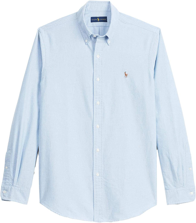 Polo Ralph Lauren Men's Big and Tall Long Sleeve Button Front Oxford Shirt