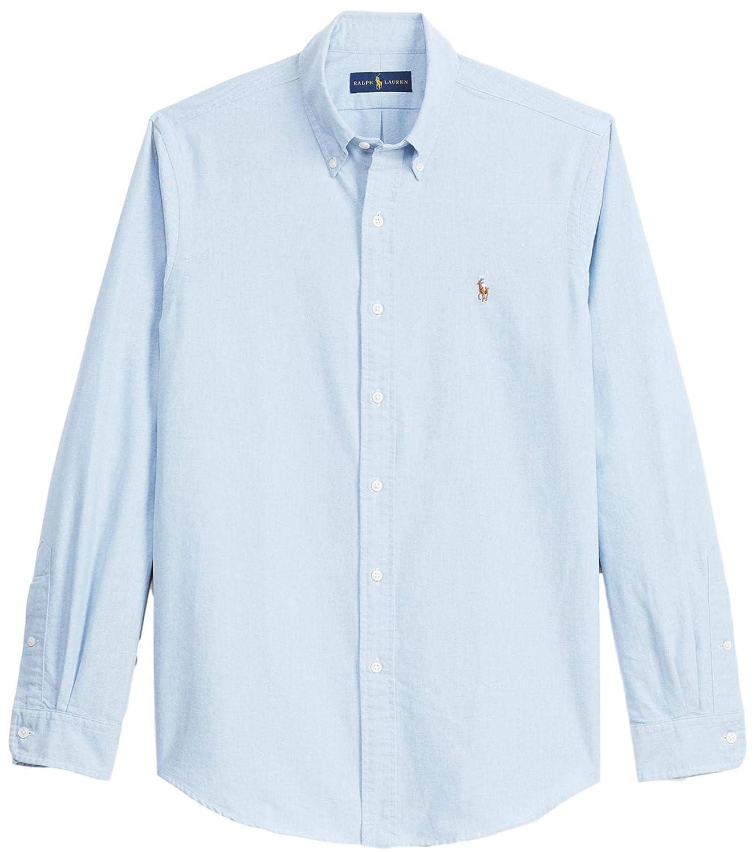 f1a84c5f3e777c Amazon.com: Polo Ralph Lauren Men's Big & Tall Button Down Shirt-Blue/White:  Polo Ralph Lauren: Clothing