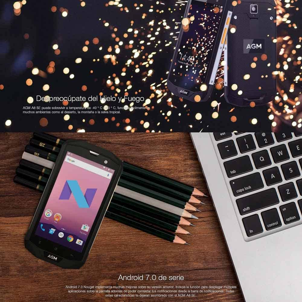 AGM A8 2GB RAM 16GB ROM Smartphone A8 SE Android 7.0 IP68 ...