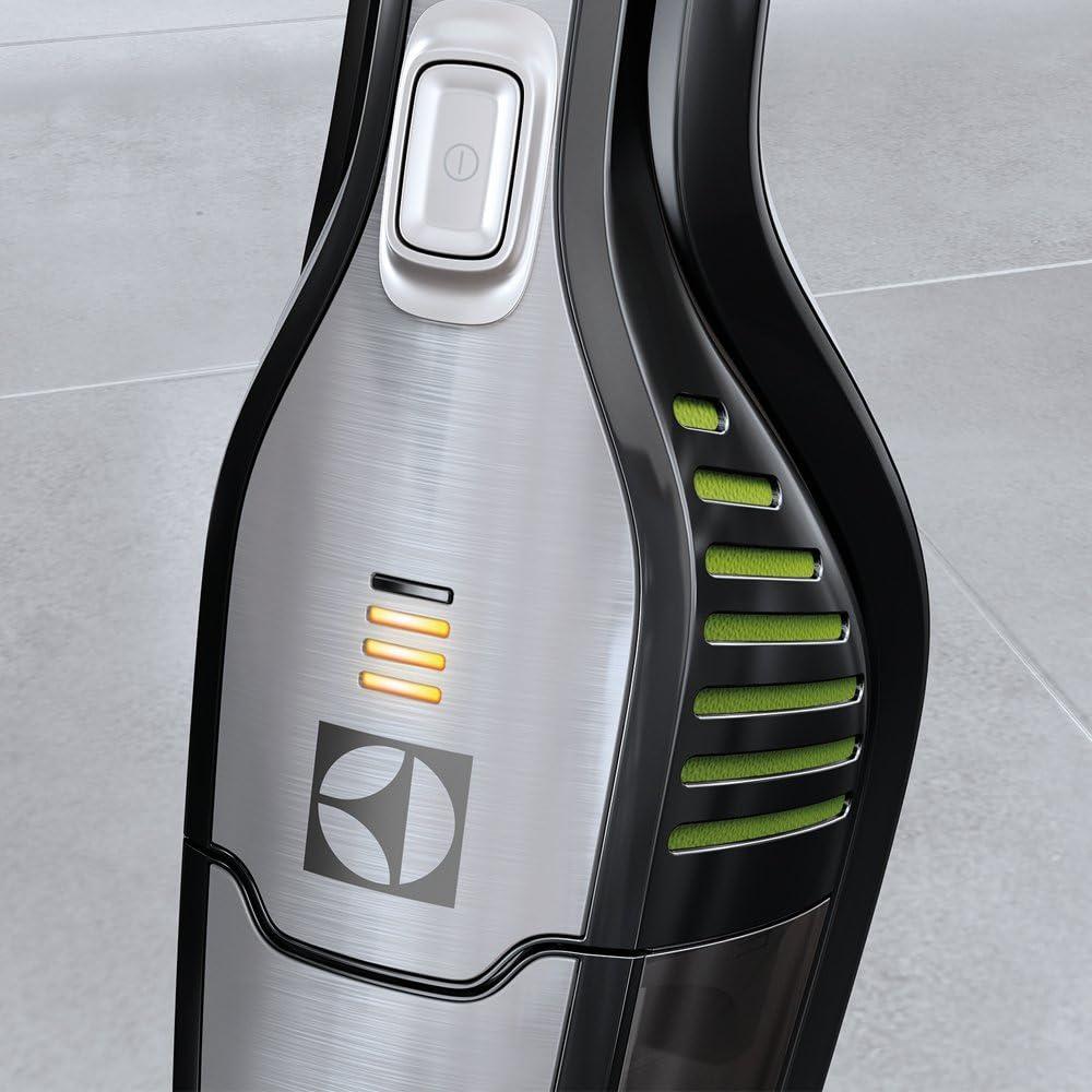 Electrolux Aspirador escoba ErgoRápido 2 en 1 con batería de Litio TurboPower, 0.5 litros, 79 Decibelios, 2 Velocidades, Negro ébano y verde: Amazon.es: Hogar