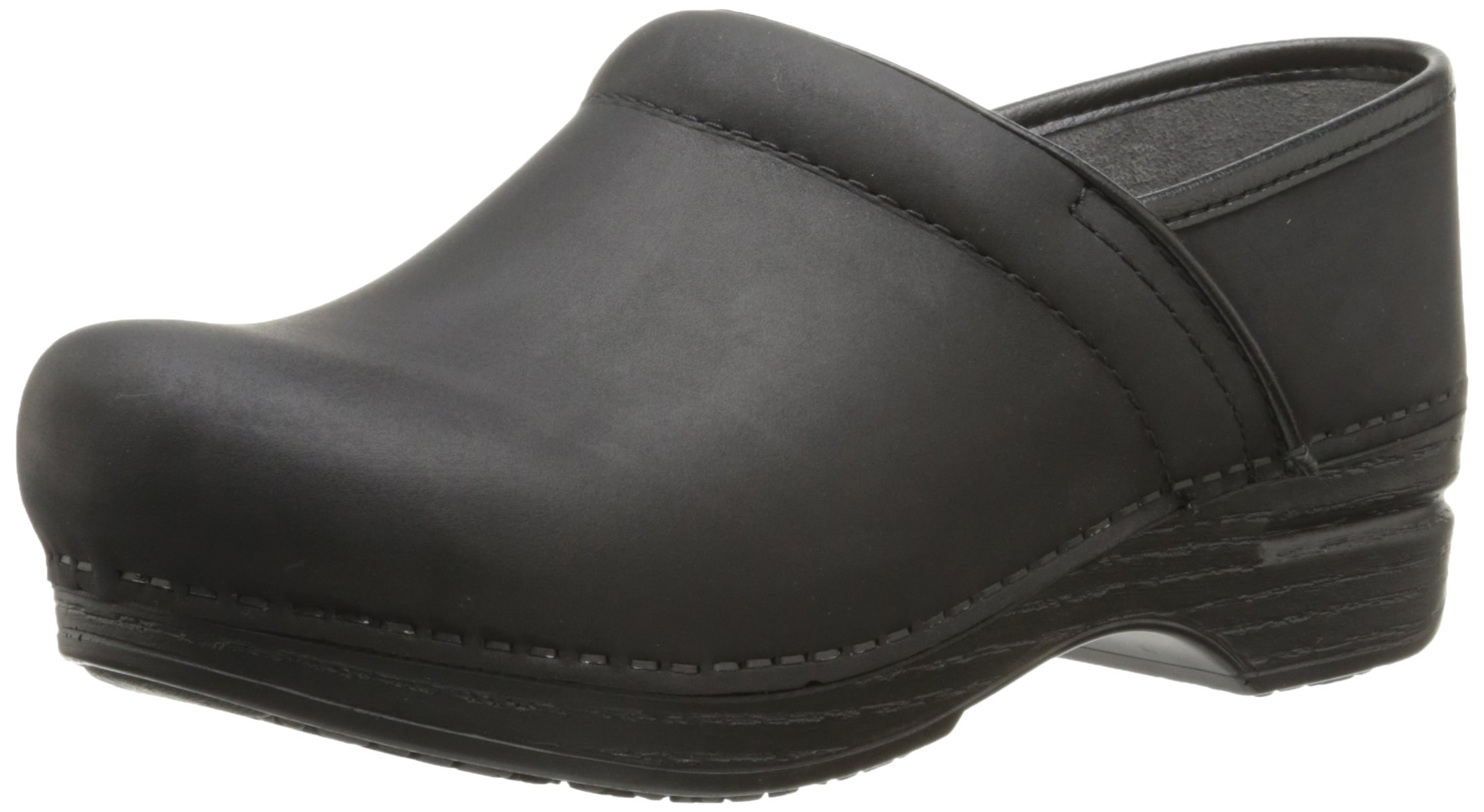 Dansko Women's Wide Pro XP Mule, Black Oiled, 39 EU/8.5-9 W US