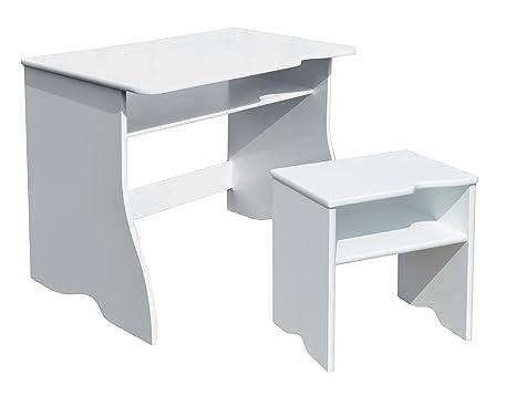 Room studio scrivania sgabello per bambini legno mdf bianco
