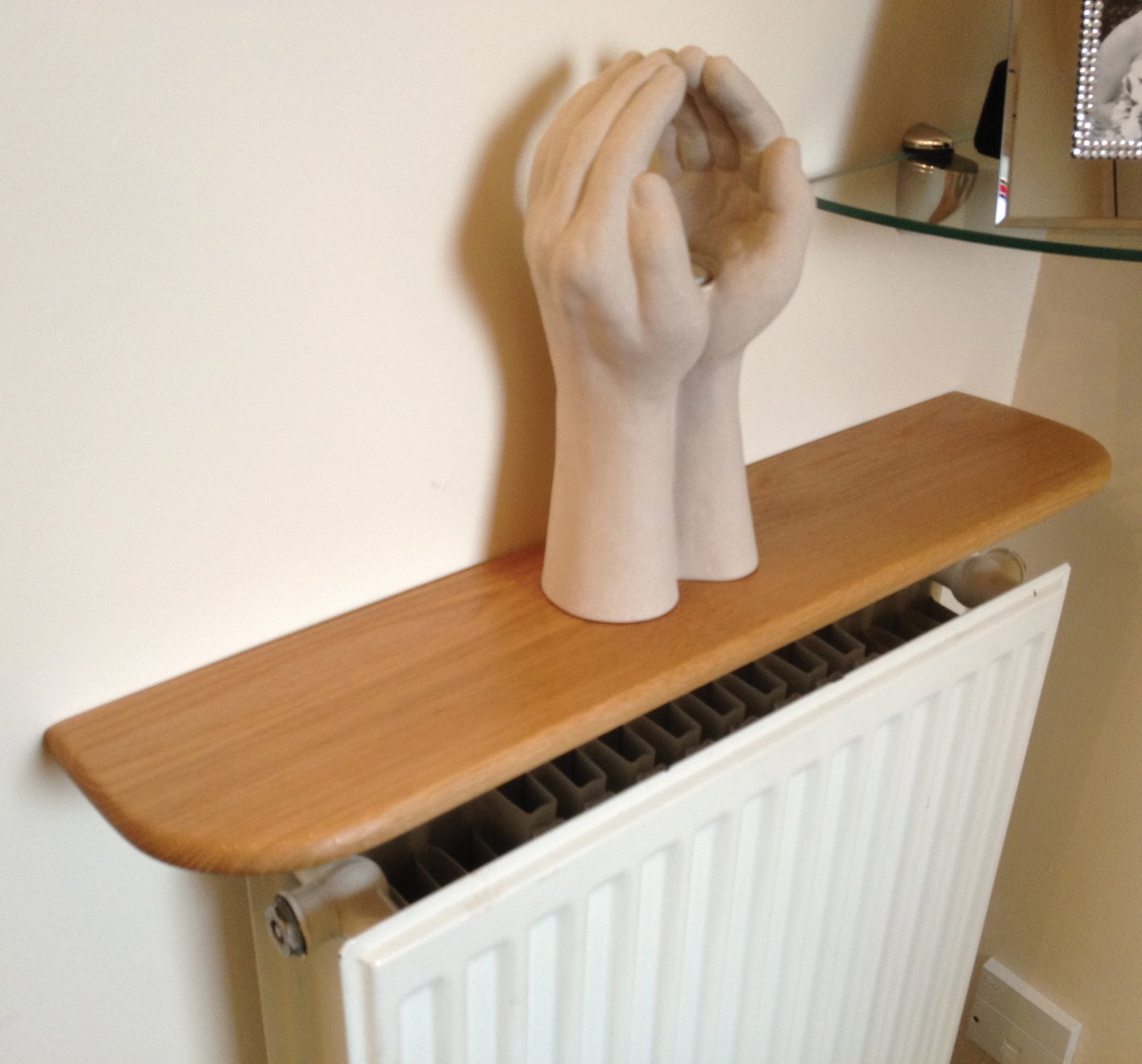 Solid Oak Radiator Shelf - Pre Finished 1800 x 150 x 20mm: Amazon.co.uk:  Kitchen & Home