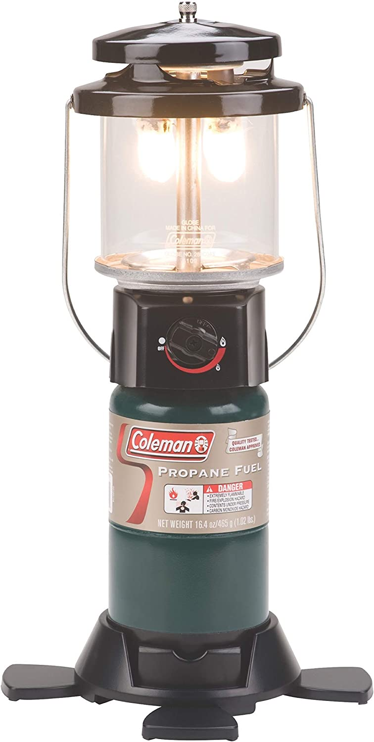Coleman Deluxe Perfect Flow Propane Gas Lantern for Outdoor Use