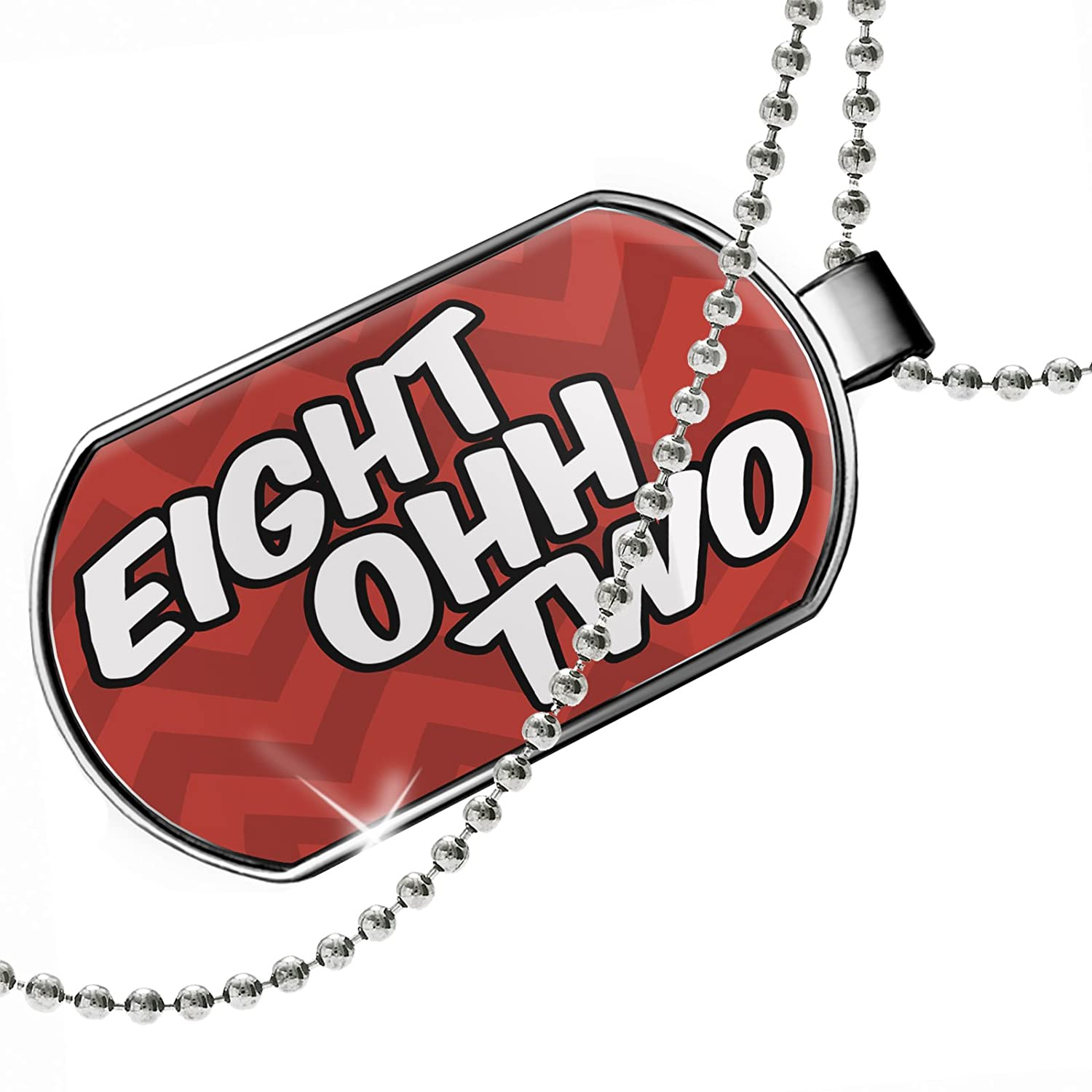 VT red Dogtag Necklace NEONBLOND Personalized Name Engraved 802 Burlington