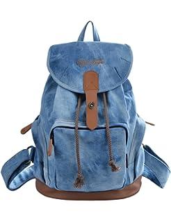 816c61c47b7 DGY la mochila Bolsos de Mujer Bolsa de Viaje Mochilas Tipo Casual Mochilas  escolares117 Azul