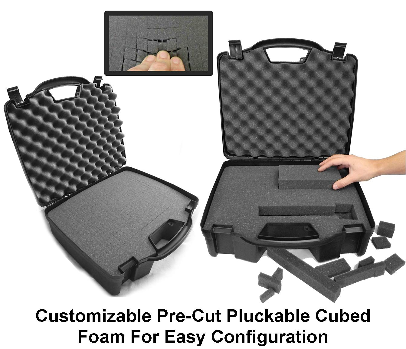 Casematix Drum Kit Microphone Travel Case Compatible with Kick Bass Drum Mic , Snare Tom , Overhead Mic , Mounts , Clamps for Cad , Shure , Samson , Pyle Pro , Audix and More by CASEMATIX