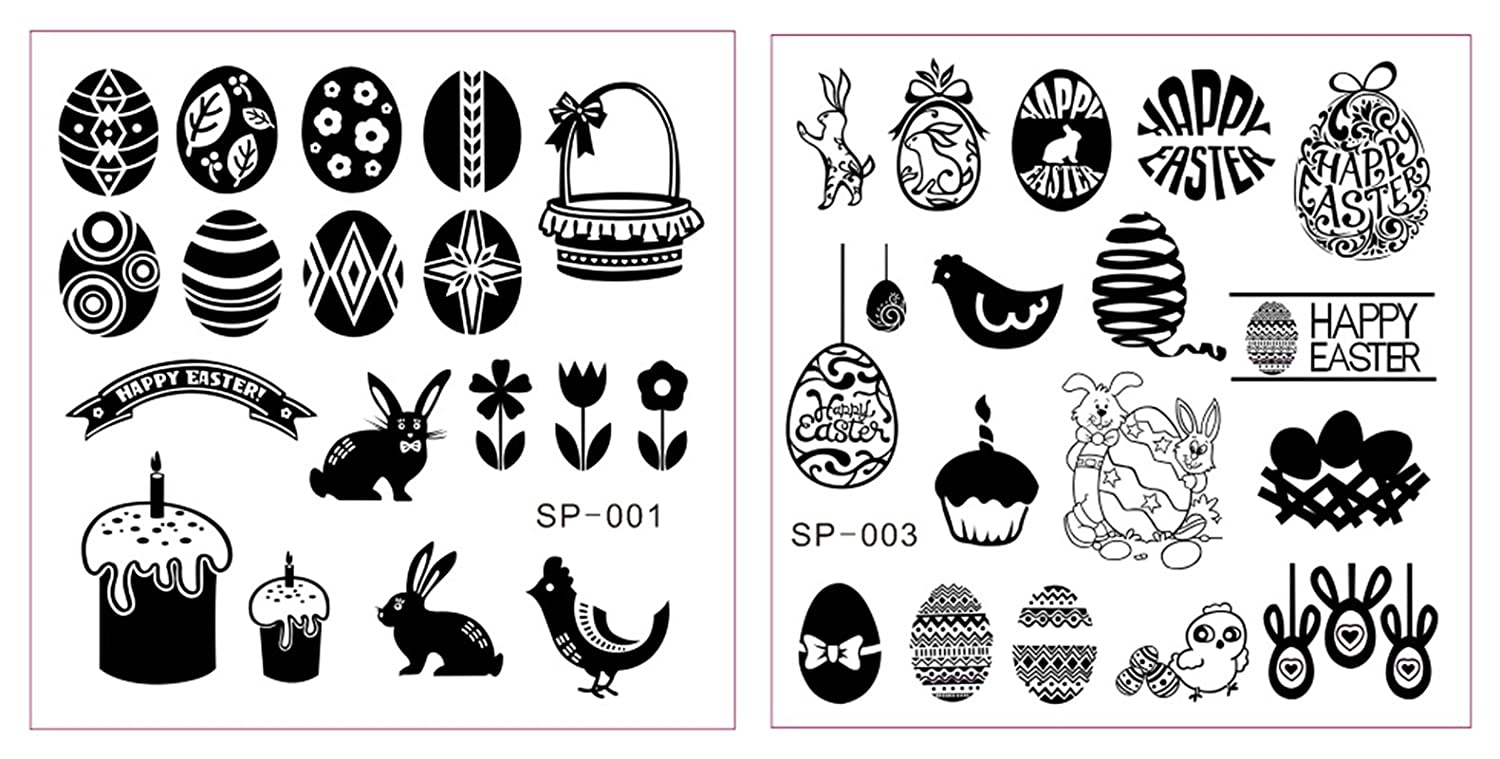 2x Stamping Schablone Ostern - Hase Osterei - Easter - Osterhase ...