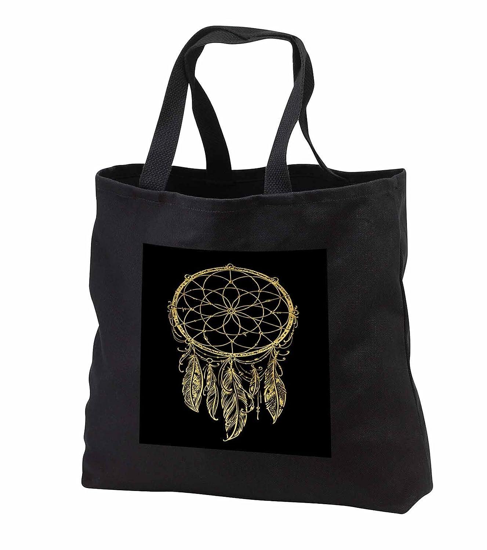 最大80%オフ! 3dローズAnne Marie Baugh – Tribal – – Prettyゴールドドリームキャッチャー黒背景に – – Tote Bag Bags B06X9ZBZ5N Black Tote Bag JUMBO 20w x 15h x 5d, コクミンドラッグ:b5d9f30a --- phribeiro.com.br